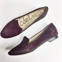 Sam Edelman | Alvin flats in burgundy ·  Dyed calf fur upper with man made sole ·  Fur Origin: China ·  Embroidered side logo ·  Size 7.5 ·         New without tags, never worn. EXCELLENT CONDITION ·         NO TRADES Sam Edelman Shoes Flats & Loafers
