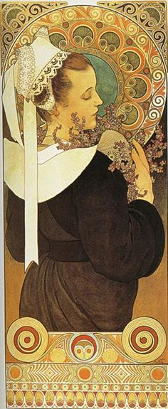 Alphonse Mucha. Heather from Coastal Cliffs. 1902