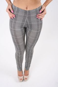 73724e26a25b21 Buy Dog Tooth Black   White Small Check Leggings from our Clothing range -    Dollywood Boutique