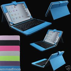Stand-Leather-Case-Cover-With-Bluetooth-Keyboard-For-Apple-iPad-mini-2-3-4-Air