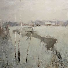 Alexander Zavarin - Pintores rusos - Trianarts Rodriguez - Picasa Web Albums Grisaille, in a way. Painting Snow, Winter Painting, Winter Art, Winter Snow, Winter Landscape, Landscape Art, Landscape Paintings, Russian Art, Landscape Illustration