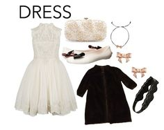 """""""Lace dress"""" by perpetto ❤ liked on Polyvore featuring Ted Baker, Oscar de la Renta and Berry"""