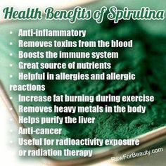 """Spirulina is a natural """"algae"""" (cyanbacteria) powder that is incredible high in protein and nutrients. When harvested correctly from non-contaminated ponds and bodies of water, it is one of the most potent nutrient sources available. It is largely made up of protein and essential amino acids.  It is VERY IMPORTANT to buy only ORGANIC spirulina!"""