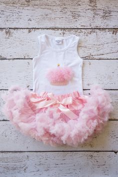 Pettiskirt - Tutu - Girls FIrst birthday Outfit - Pettiskirt - Pink Skirt - Newborn Photo Prop - Baby Outfit -baby pettikskirt on Etsy, $50.00