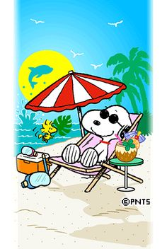 Snoopy and Woodstock beach Snoopy Cartoon, Peanuts Cartoon, Peanuts Snoopy, Peanuts Characters, Cartoon Characters, Snoopy Et Woodstock, Hello Kitty, Snoopy Pictures, Snoopy Wallpaper
