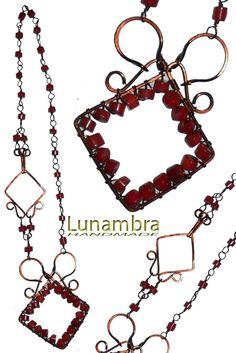 collana realizzata con la tecnica del wire wrapping, cottantami se vuoi al mio indirizzo mail  lunavion@yahoo.it