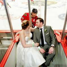 Patrick Sharp photobomb  OMG! Hahahahaah! This would be the highlight of my wedding day! (;