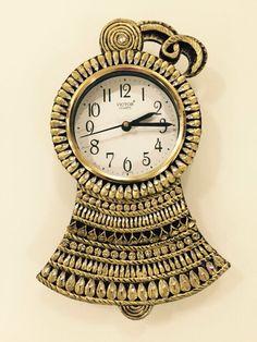 Hello India Wooden Hand Made Paper Mache Wall Clock Art Papier