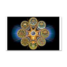 Witch's Wheel of the Year Car Magnet 20 x 12