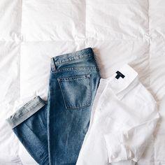 Button-down + Jeans
