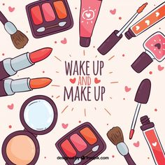 Fundo de acessórios de maquiagem Vetor grátis Beauty Logo, My Beauty, Iphone Original, Dibujos Pin Up, Makeup Illustration, Japanese Illustration, Oriflame Beauty Products, Doodle Girl, Animal Print Wallpaper