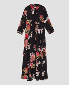 Image 8 of LONG FLORAL PRINT DRESS from Zara