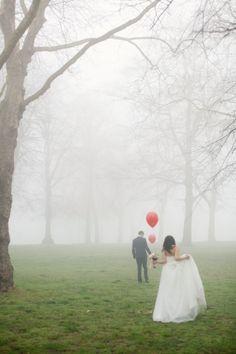 Dreamy misty wedding shoot