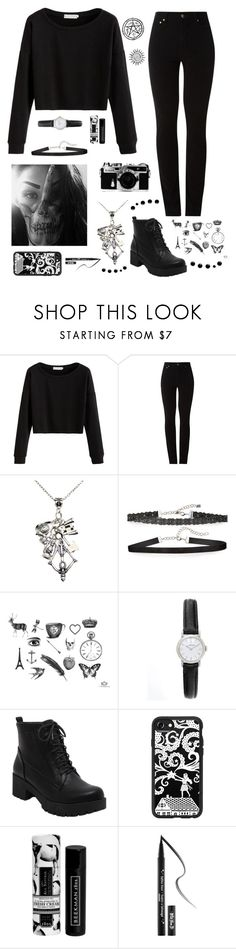 """""""you make me wanna slit my wrists and play in my own blood"""" by stopcallinme ❤ liked on Polyvore featuring Amapô, Nikon, Chan Luu, Casetify, Beekman 1802 and Kat Von D"""