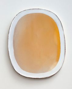 Nina Malterud,  Dish, ca 28x35 cm. Earthenware, slips and glazes