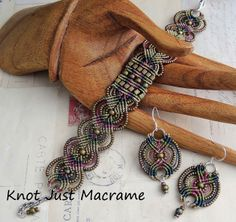 More Micro Macrame in Raku Colors