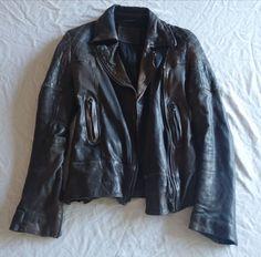 ~$750 ALL SAINTS DARK BROWN LEATHER TELSTAR BIKER JACKET ~  UK 6 / US  #allsaints #jacket