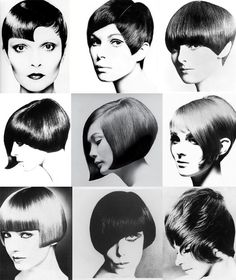 Short hair cuts by Vidal Sassoon . Classmates did ourselves, and each other for a pack of smokes, 1966,-68, looked pretttttty goooood!