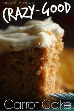 This carrot cake with cream cheese icing beats all others. It's rich, dense, moist and full of flavour; perfect for the family or to feed a crowd.