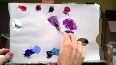 Basic acrylic colour mixing: how to mix a perfect purple| Part 2 of 2  Will kemp