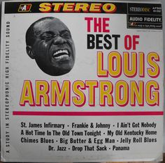 Louis Armstrong, The Best of Louis Armstrong, Vintage Record Album, Vinyl LP…