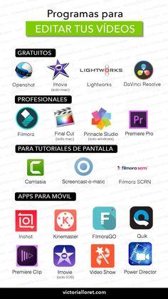 Good Photo Editing Apps, Video Editing, Social Marketing, Digital Marketing, Start Youtube Channel, Video X, Little Bit, School Study Tips, School Hacks
