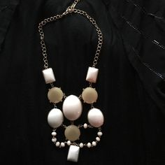 BKE statement necklace White, cream and gold statement necklace from Buckle BKE Jewelry Necklaces