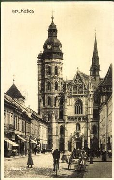 Kassa, Kosice; Hlavná ul. | Gallery | Hungaricana Interactive Map, Hungary, Tattoo Inspiration, Big Ben, Louvre, Explore, History, Gallery, Building