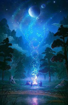 Fantasy Worlds on - Fantasic fantasy places - art scenery Fantasy Places, Fantasy World, Dream Fantasy, Dark Fantasy, Final Fantasy, Galaxy Wallpaper, Nature Wallpaper, Wallpaper Of, Mystic Wallpaper