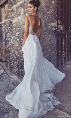 elbeth gillis bridal 2017 cap sleeves illusion bodice scoop neck aline wedding dress (louise) bv scoop back train