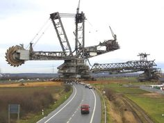 Here's a Bucketwheel moving from site to site. Impressive in a huge scale.