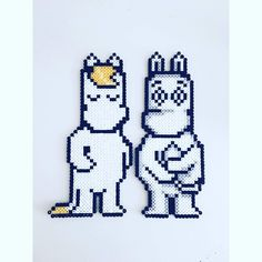 Tove Jansson, Perler Beads, Pixel Art, Cross Stitch Patterns, Charts, Diy And Crafts, Diagram, Ideas, Animales