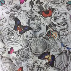 Butterfly Garden Original on Foil wallpaper by Osborne & Little