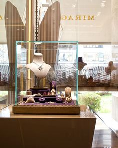 """""""The bespoke mixture of internal finishes of fabrics, wood, lacquer, glass and mirror create an inspirational sense of style."""" #minearslanbek #furniture #interior #design #interiordesign #custommade #luxury #showcase #jewellery #retail"""