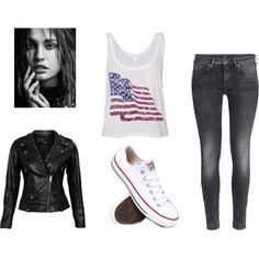 Untitled #9 by brendadg on Polyvore featuring polyvore fashion style VIPARO H&M Converse