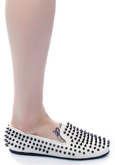 UNIF Hellraiser spiked flats | Dolls Kill