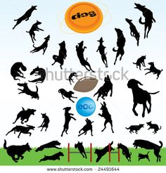 Leaping Dog Silhouette Dogs silhouette part 1 of