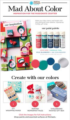 Martha Stewart Crafts Mad About Color: A Colorful Christmas Palette