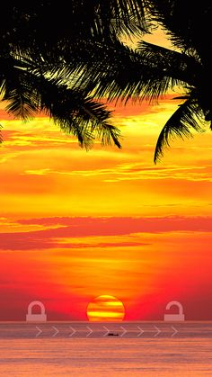 ↑↑TAP AND GET THE FREE APP! Lockscreens Art Creative Sunset Sky Nature Sea Water Horizont Shortcut Awesome HD iPhone 6 Lock Screen