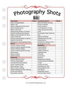 Worksheets Free Printable Wedding Checklist Worksheets wedding shot list photos to take at the pre cermony ceremony if you and your photographer dont know what pictures want taken your