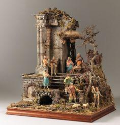 1 million+ Stunning Free Images to Use Anywhere Diy Nativity, Christmas Nativity Scene, Christmas Art, Nativity Scenes, Christmas In Italy, Victorian Christmas, Christmas Crib Ideas, Hirst Arts, Medieval Houses