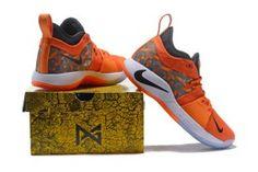 9559f4a3f4f7 Nike Paul George PG 2 PE Against The Lakers Orange Black Men s Basketball  Shoes