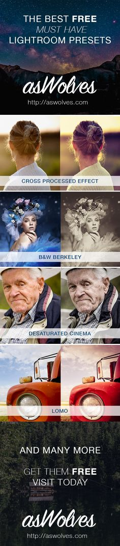 The Best Free, Must Have, Lightroom Presets                                                                                                                                                                                 More