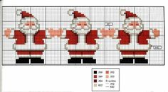 Brilliant Cross Stitch Embroidery Tips Ideas. Mesmerizing Cross Stitch Embroidery Tips Ideas. Santa Cross Stitch, Cross Stitch Bookmarks, Cross Stitch Borders, Cross Stitch Charts, Cross Stitching, Cross Stitch Embroidery, Cross Stitch Patterns, Christmas Border, Christmas Cross