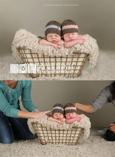 Ana Brandt Photography of TOAPAN photographed these darling twins live on CreativeLIVE!   This luxuriously soft warm honey fur baby photo prop is perfect for newborn and baby photo shoots!