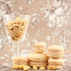 Some recipes and lots of good tips on making macarons. (P.S. Someone commented that you can make them less sweet by switching the amount of almonds and sugar in a recipe!).