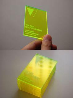 Carte de visite en PVC