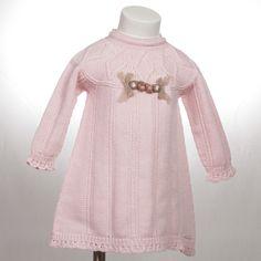 Vestido Pili Carrera m/l lana lazito
