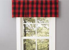 Red Buffalo Check Window Valance