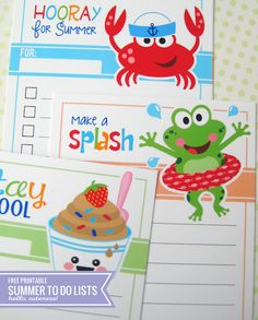 {Free Printable} Summer Friends To Do Lists
